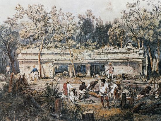 Remains of Temple of Tulum-John Lloyd Stephens-Giclee Print