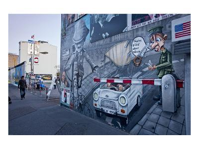 Remains of the Berlin Wall at the East Side Gallery in Berlin, Germany--Art Print