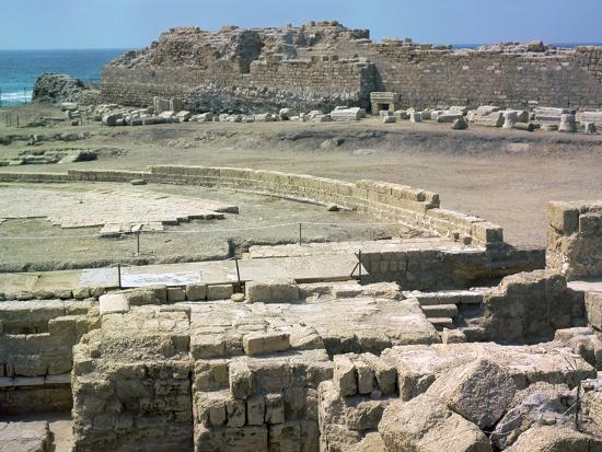 Remains of the Roman town of Caesarea, 1st century-Unknown-Photographic Print