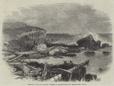 Remains of the Ship Eugenie, Wrecked in Ballymacotter Bay, Ireland--Giclee Print