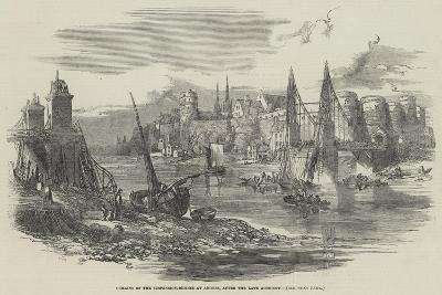 Remains of the Suspension-Bridge at Angers, after the Late Accident--Giclee Print
