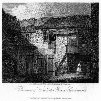 Remains of Winchester Palace, Southwark, London, 19th Century-JC Varrall-Giclee Print