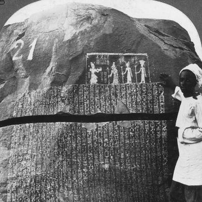 Remarkable Inscription of a Seven Year Famine on an Island in the Nile, Egypt, 1905-Underwood & Underwood-Photographic Print