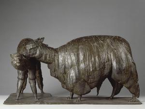 Deux lamas by Rembrandt Bugatti