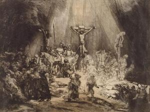 Christ Crucified between the Two Thieves: The Three Crosses, 1653 by Rembrandt Harmensz. van Rijn
