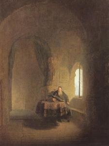 Saint Anastasius, c.1660 by Rembrandt Harmensz. van Rijn