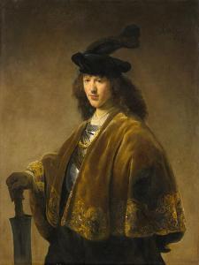 Young Man with a Sword, c.1633-1645 by Rembrandt Harmensz. van Rijn