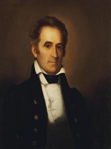 Portrait of American Statesman Richard Mentor Johnson (1780-1850) by Rembrandt Peale