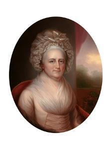 Portrait of Martha Washington (1731-180) by Rembrandt Peale