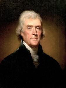 Portrait of Thomas Jefferson, 1853 by Rembrandt Peale