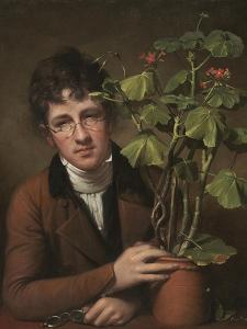 Rubens Peale with a Geranium, 1801 by Rembrandt Peale