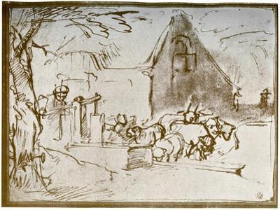 A Farmyard Scene, 1913 by Rembrandt van Rijn