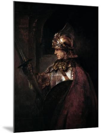 A Man in Armour, 1655 by Rembrandt van Rijn