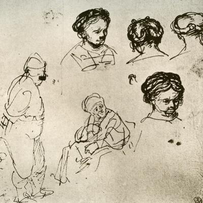 A Page of Sketches, 1913 by Rembrandt van Rijn