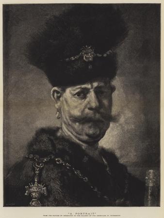 A Portrait by Rembrandt van Rijn