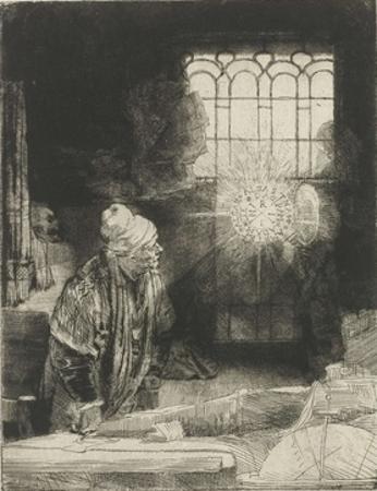 A Scholar in His Study, 1650-54 by Rembrandt van Rijn