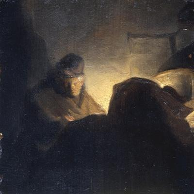 A Scholar in his Study by Rembrandt van Rijn