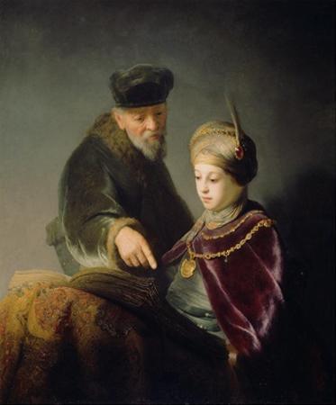 A Young Scholar and his Tutor by Rembrandt van Rijn