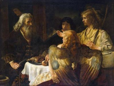 Abraham and the Three Angels, 1630S by Rembrandt van Rijn