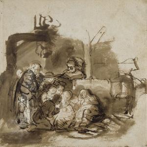 Adoration des bergers by Rembrandt van Rijn