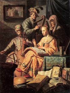 Allegory of Music, 1626 by Rembrandt van Rijn