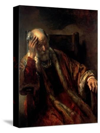 An Old Man in an Armchair, 17th Century by Rembrandt van Rijn