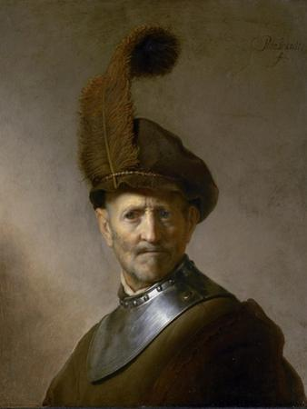 An Old Man in Military Costume (Formerly Called Portrait of Rembrandt's Father), C.1630 by Rembrandt van Rijn