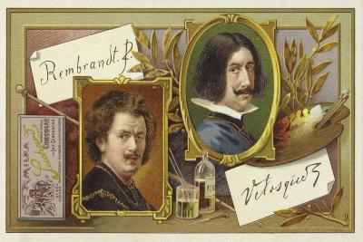 Rembrandt Van Rijn and Diego Velasquez--Giclee Print
