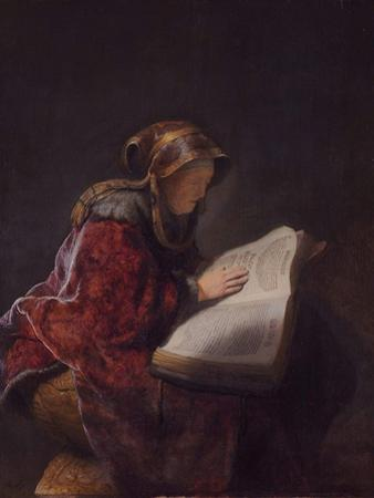 Anna the Prophetess, 1631 by Rembrandt van Rijn