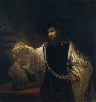 Aristotle before the Bust of Homer, 1653 by Rembrandt van Rijn