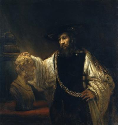 Aristotle with a Bust of Homer by Rembrandt van Rijn