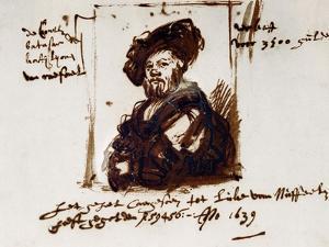 Baldassare Castiglione, Author of Il Cortegiano, the Book About the Perfect Courtier, 1639 by Rembrandt van Rijn