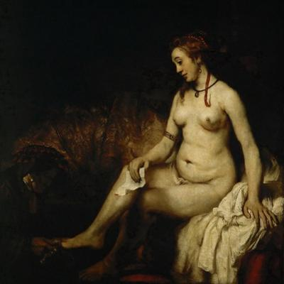 Bathsheba at Her Bath (Bathsheba with King David's Lette) by Rembrandt van Rijn