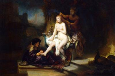 Bathsheba at Her Bath by Rembrandt van Rijn