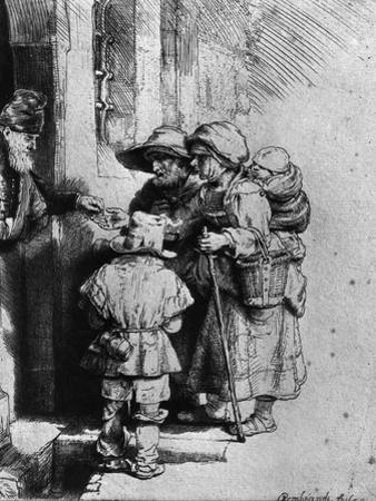 Beggars on the Doorstep of a House, 1648 by Rembrandt van Rijn