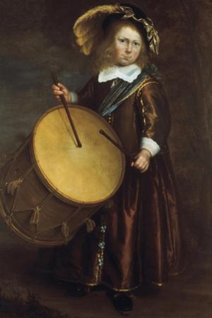 Boy with Drum, 17th Century by Rembrandt van Rijn