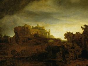 Castle at Twilight, 1640 by Rembrandt van Rijn