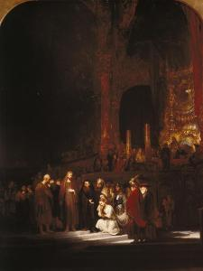 Christ and the Adulteress, 1644 by Rembrandt van Rijn