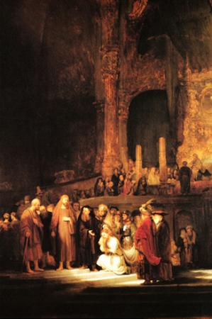 Christ and the Adultress by Rembrandt van Rijn