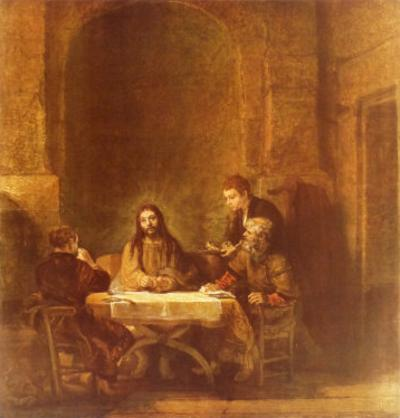 Christ and the Disciples at Emmaus by Rembrandt van Rijn