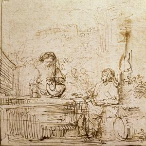 Christ and the Woman of Samaria by Rembrandt van Rijn