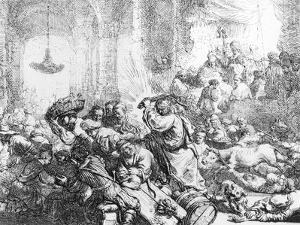 Christ Driving the Money Lenders from the Temple, 1635 by Rembrandt van Rijn
