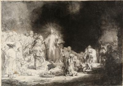 Christ Healing the Sick (The Hundred Guilder Prin) by Rembrandt van Rijn
