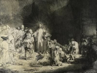 Christ Healing the Sick: the 'Hundred Guilder Print', C. 1649 by Rembrandt van Rijn