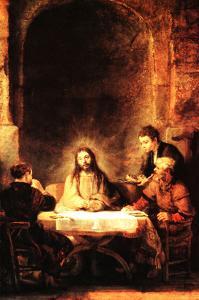 Christ in Emmaus by Rembrandt van Rijn