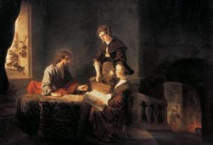 Christ in the House of Martha and Mary by Rembrandt van Rijn