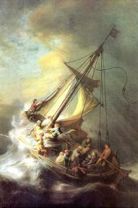 Christ in the Storm on the Lake of Galilea by Rembrandt van Rijn