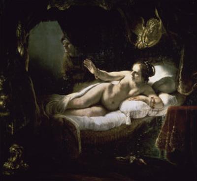 Danae by Rembrandt van Rijn