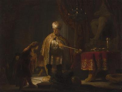 Daniel and Cyrus before the Idol Bel, 1633 by Rembrandt van Rijn