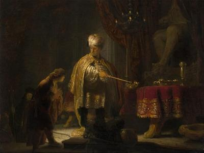 Daniel and Cyrus Before the Idol Bel by Rembrandt van Rijn